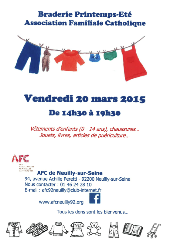 Braderie Neuilly 2015 Tract