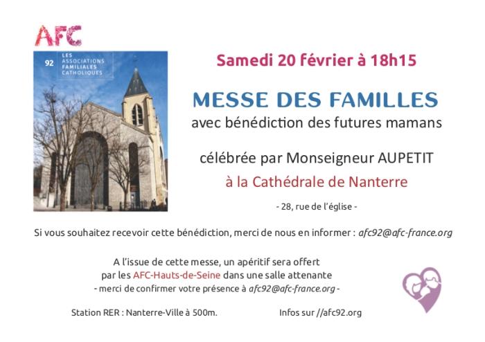 Tract messe des familles bénédiction des futures mères