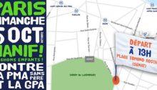 Plan de départ de la manifestation
